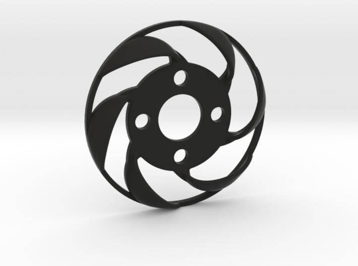 Yokomo YD2 spurgear plate fan - reversed direction 3d printed
