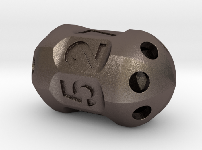 Seven sided 'pepperpot' die 3d printed