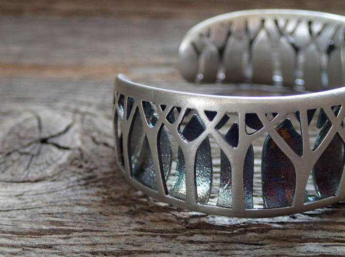 Forest for the Trees Cuff 3d printed