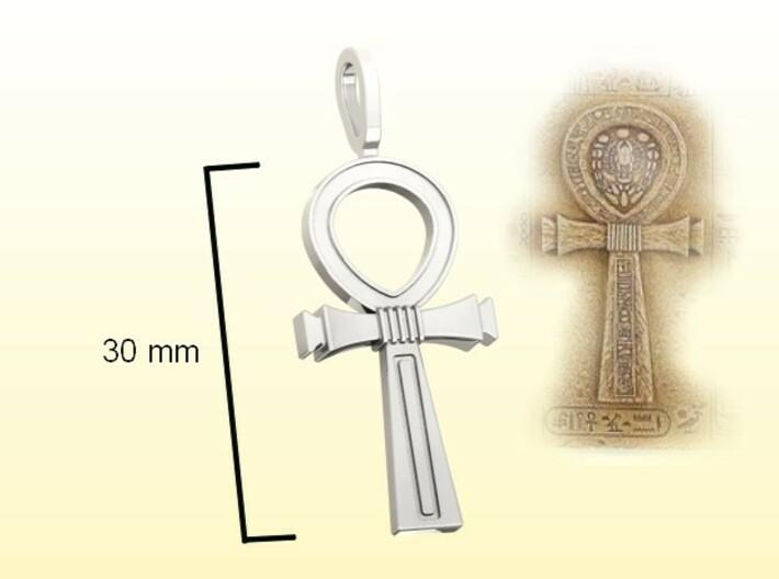 Ankh Cross Pendant 3d printed Render