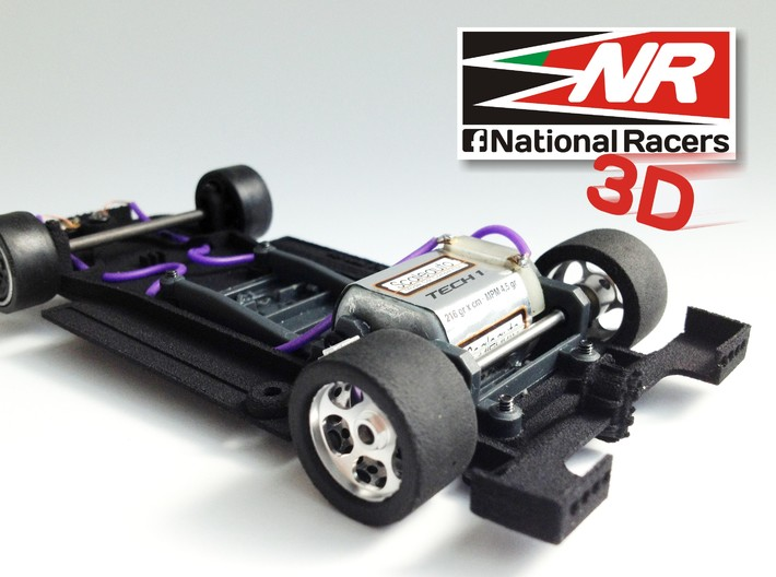 3D chassis for Fly Lola T70 (SW) 3d printed