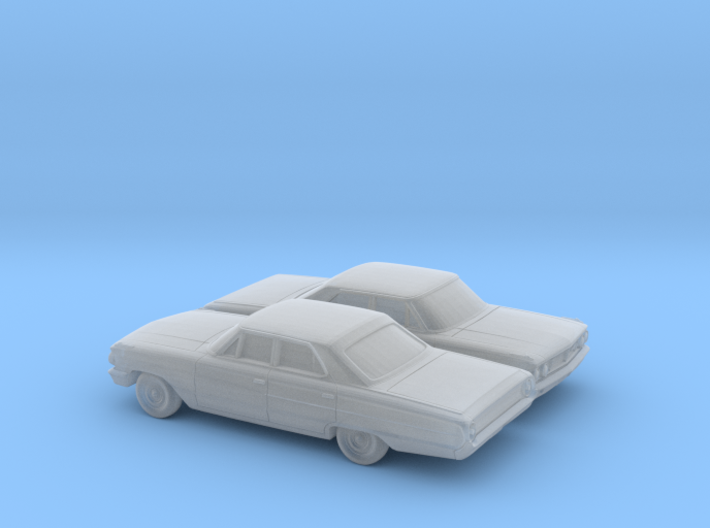 1/160 2X 1964 Ford Galaxie Sedan 3d printed