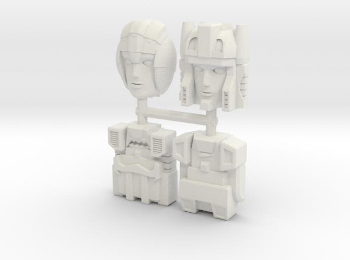 Headmasters Faceplate Four Pack 3d printed