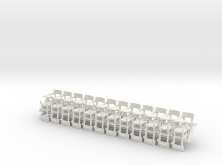 O Scale 1/48 Pedestal School Desks x 24 for SWF an 3d printed