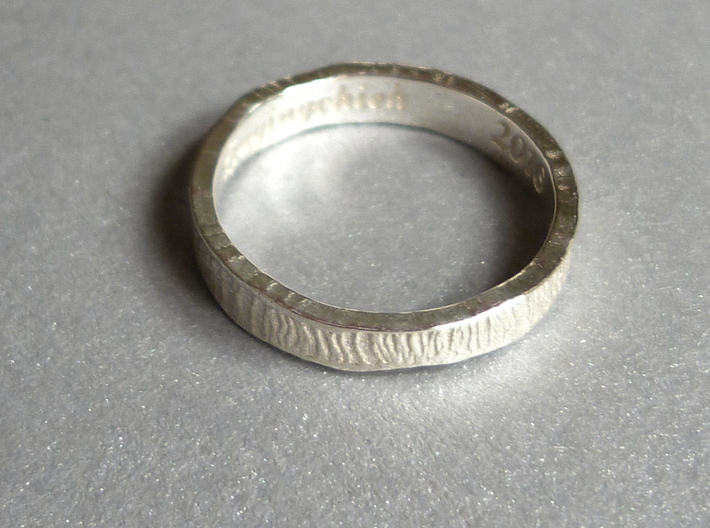 O-cean Pinky Ring (Size 4) 3d printed