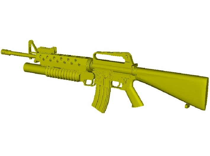 1/18 scale Colt M-16A1 & M-203 rifle x 1 3d printed