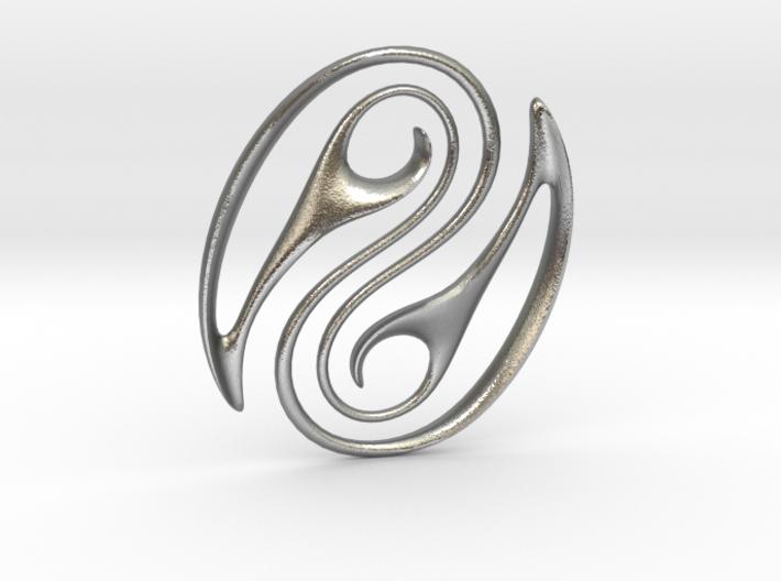 Wave Pounamu Pendant 3d printed