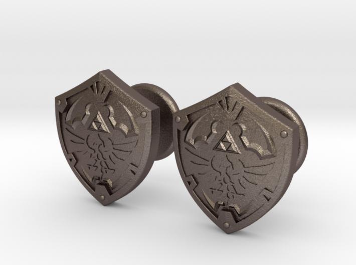 Hylian Shield Cufflinks 3d printed