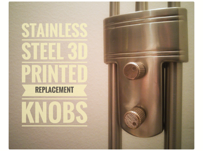 Knob for dimmer 3d printed Replacement knobs 3D printed in Stainless Steel