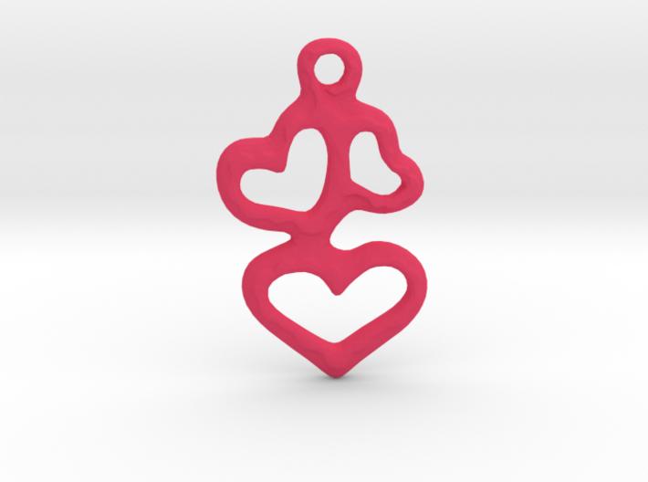 3 Hearts Pendant 3d printed