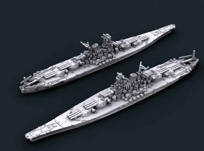 IJN BB A150 (mod) Super Yamato 3d printed Computer software render