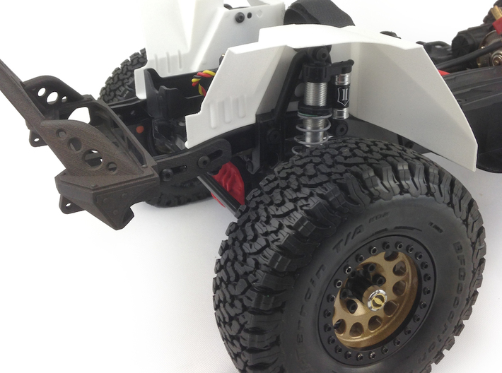 AJ50001 SCX10 II JK & G6 body Inner Fender FRONT 3d printed Inner fenders shown fitted to the Axial SCX10 II chassis