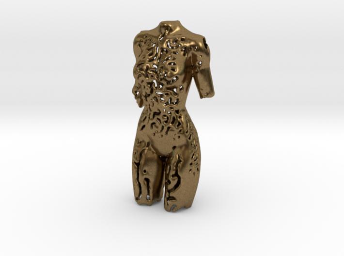 Female Torso Pendant 3d printed