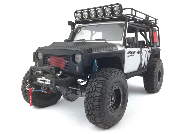 RS10004 Ripp Intercooler JK - BLACK 3d printed Part shown painted and installed. Grill and vehicle sold separately.