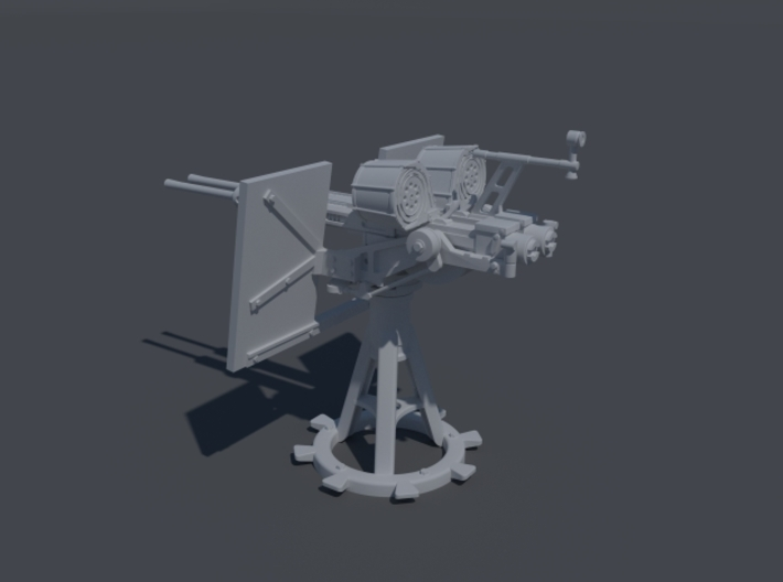US Twin 20mm Oerlicon MK24 Mod 5. 1/48 scale. 3d printed