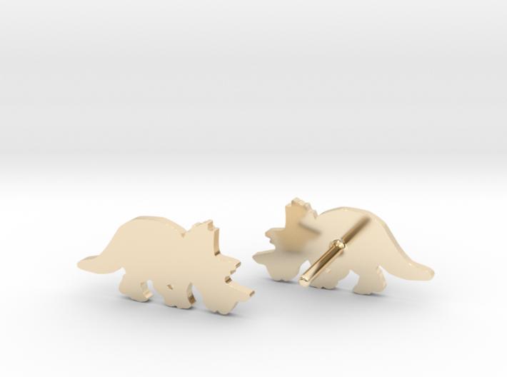 Regaliceratops Earrings 3d printed