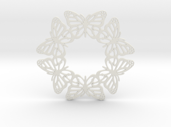 Monarch Butterfly Snowflake Ornament 3d printed