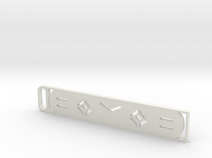 Worlds Kaomoji Keychain 3d printed
