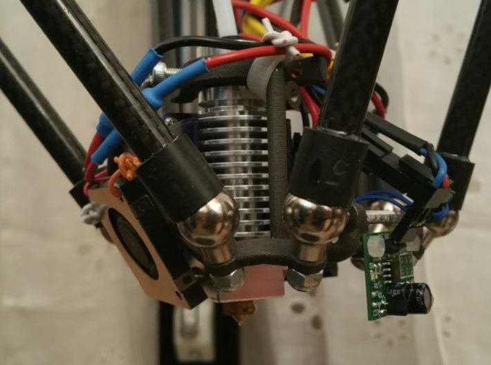 SE Effector V1.2 3d printed mounted head with fans and IR bed sensor