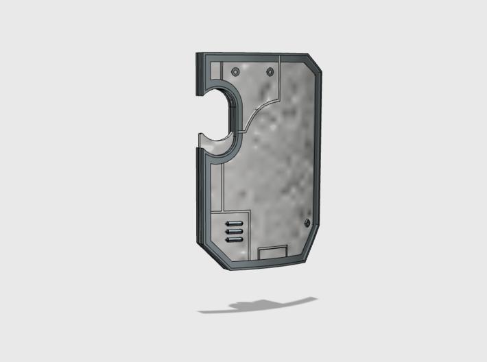 10x blank- Marine Boarding Shield 1 w/Hand 3d printed