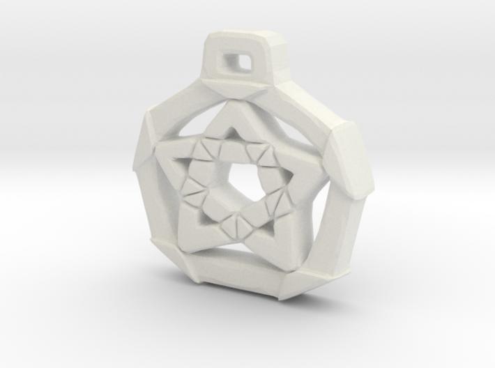 Unique Pentacle pendant 3d printed