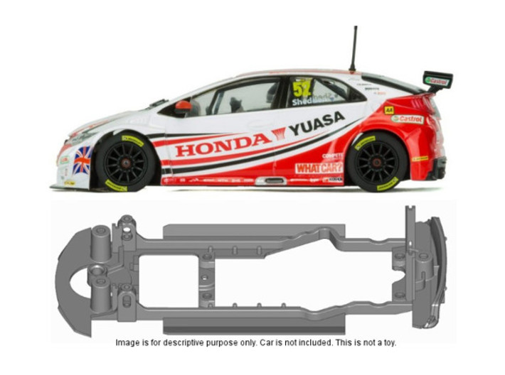 S20-ST4 Chassis for Scalextric Honda Civic SSD/STD 3d printed