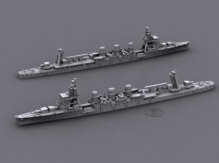 IJN CL Nagara [1942] 3d printed Computer software render