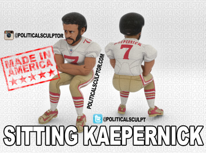 Sitting Kaepernick Large 3d printed