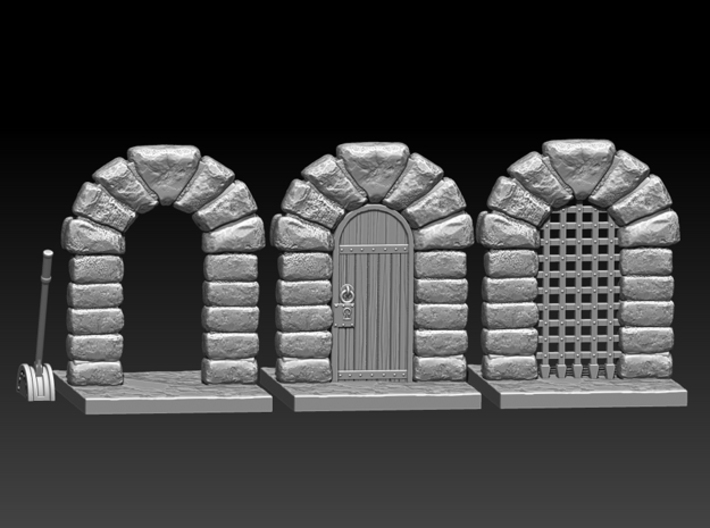 Dungeon doors 3d printed