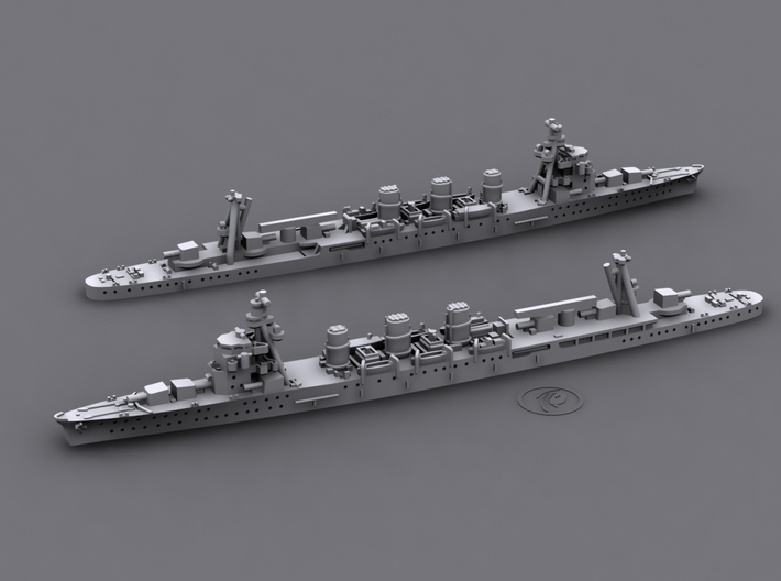 1/1800 IJN CL Abukuma[1941] 3d printed Computer software render