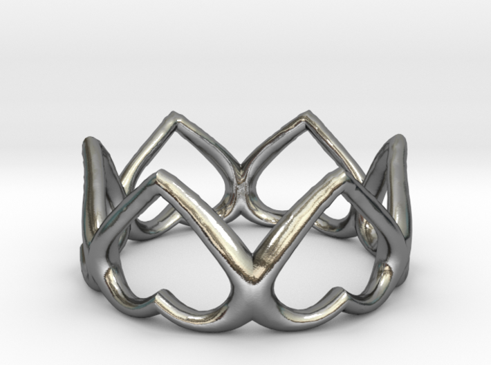 The Heart ring / size HK 10 / 5 US (19.4 mm) 3d printed