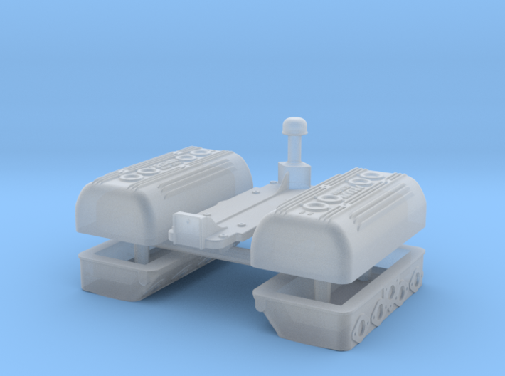 1/43 Flathead Ardun Head Kit 3d printed
