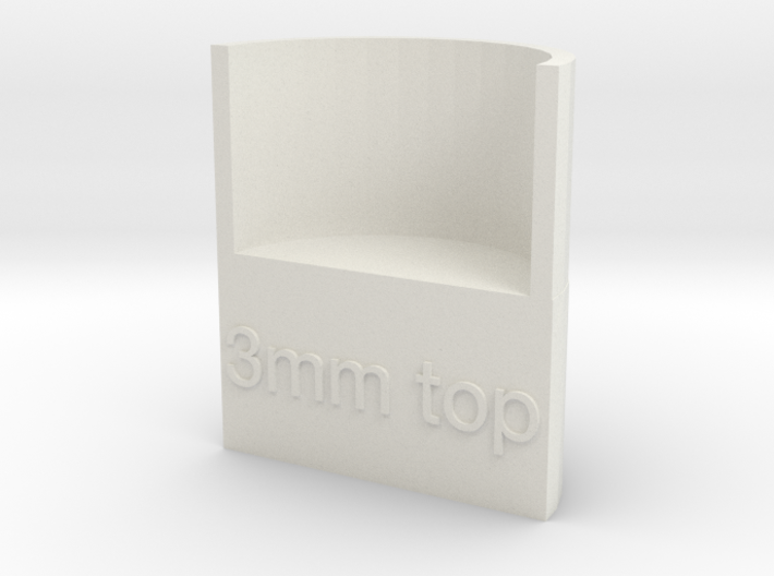 Lasersaur focus: 3mm media, top focus 3d printed