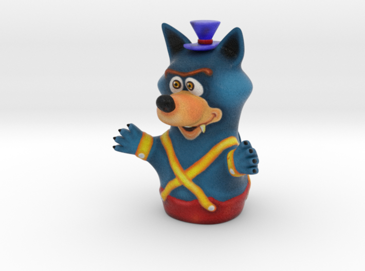 Three Little Pigs Puppet 004 Wolf 3d printed