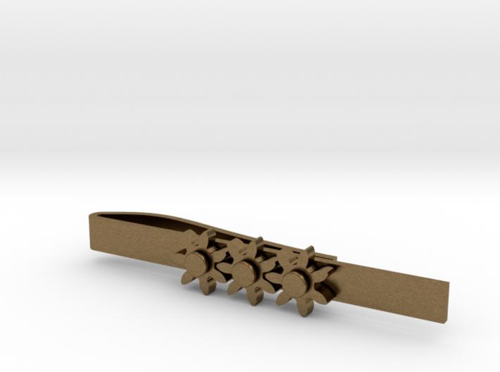 "Kinetic Gear Tie Clip (2.25"" Bar) 3d printed"