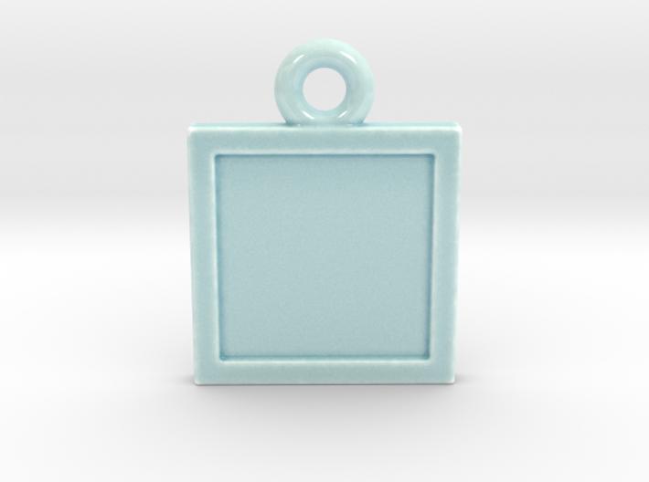 Celadon Selfie Ornament (Engraved) 3d printed