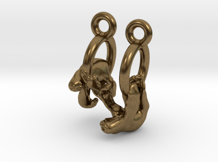 Sloth Earrings 3d printed
