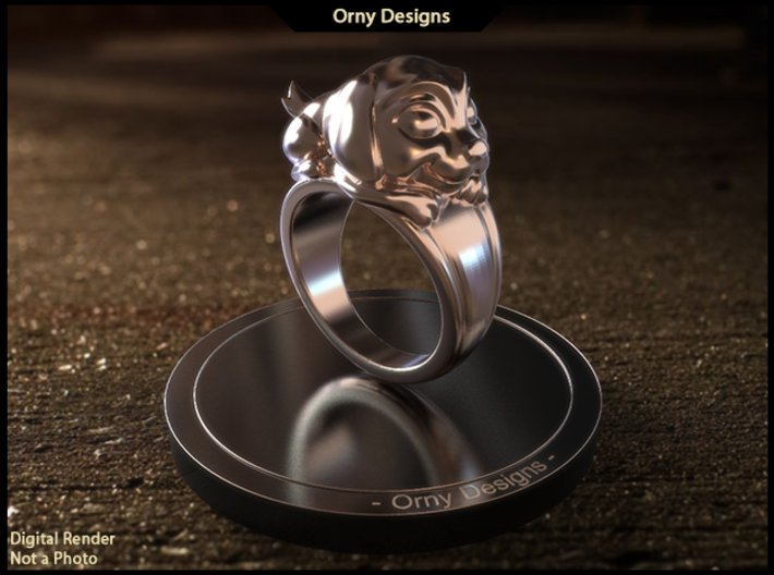 Dog Pet Ring - 17.35mm - US Size 7 3d printed