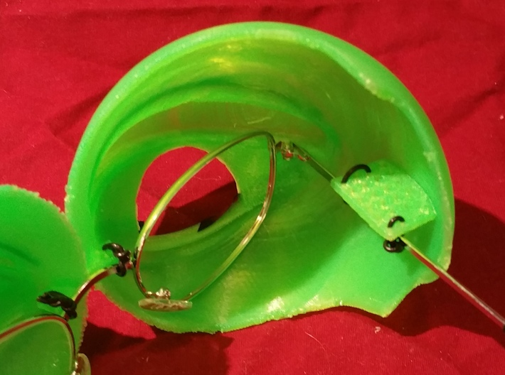 Pepe the Frog Holloween Costume Eyeglasses Tie-on 3d printed