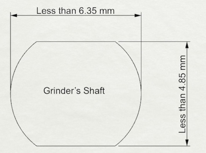 Coffee Grinder Bit for Drill Driver CDR-L 3d printed The available size of rounded rectangle shaft of coffee grinders