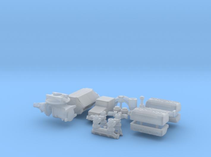 1/16 Flathead W Ardun Head 4 Deuce Intake 3d printed