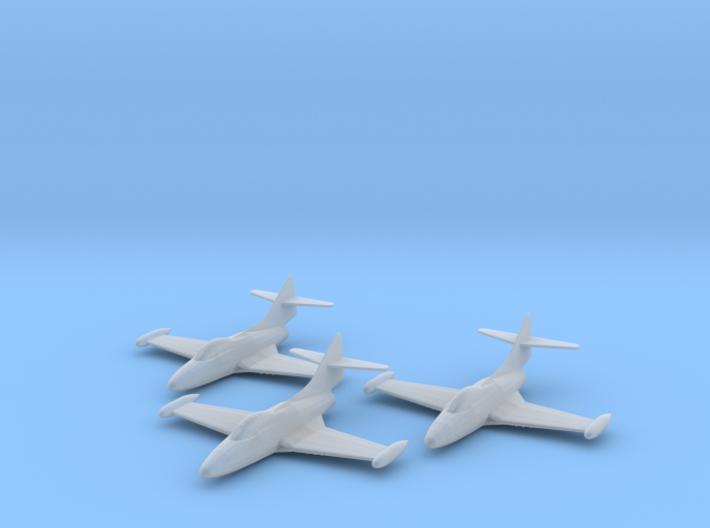 Grumman F9F-2 'Panther' 1:285 x3 3d printed