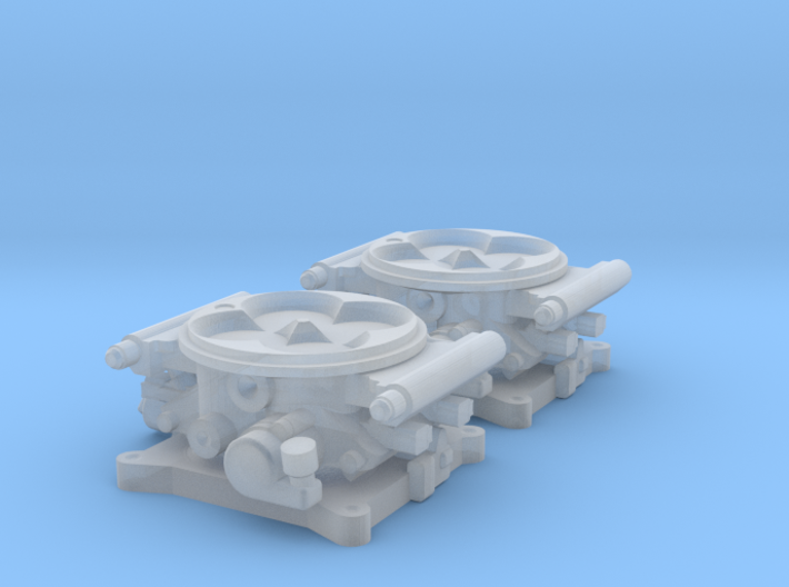 1/24 FAST 1000 Throttle Body 4bbl Fuel Injection 3d printed