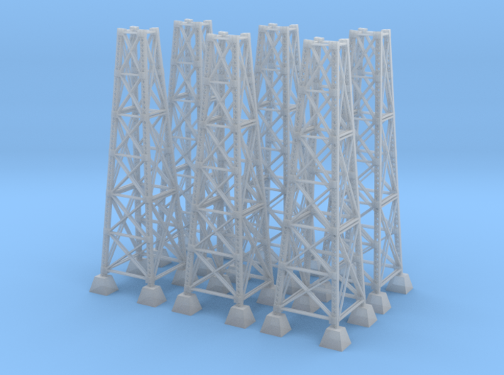Six Bridge Pilons Z Scale 3d printed six bridge pilons z scale