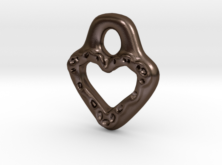 Lacey Heart 3d printed