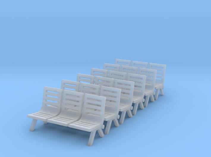 Modern Seat - Type 2 X 6 - N Scale 3d printed