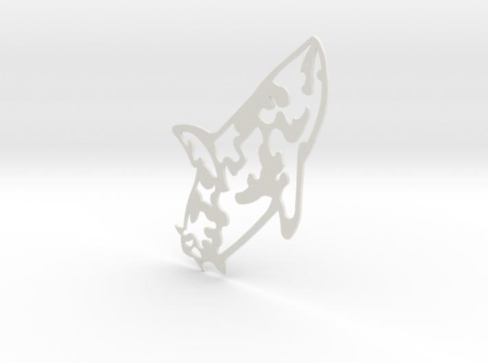 Camaflouge shark tattoo 3d printed