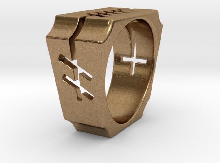 Grá (Love) Ogham Ring 3d printed
