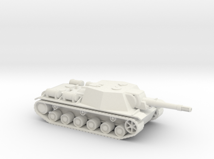 SU-152 1/87 scale Russian Tank Destroyer 3d printed