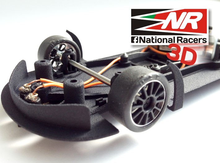 3D chassis - SuperSlot Mclaren MP4 (Aw/Sw) 3d printed